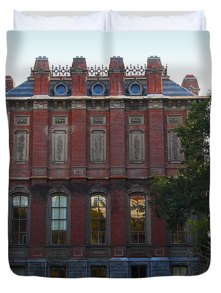 UC Berkeley . South Hall . Oldest Building At UC Berkeley . Built 1873 . 7D10053 Duvet Cover by Wingsdomain Art and Photography