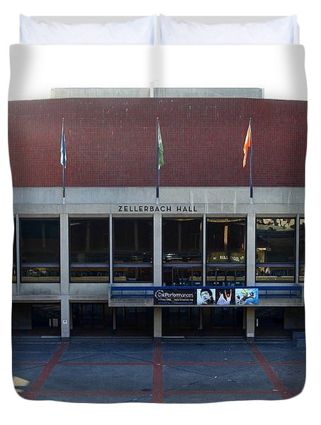 UC Berkeley . Zellerbach Hall . 7D10012 Duvet Cover by Wingsdomain Art and Photography