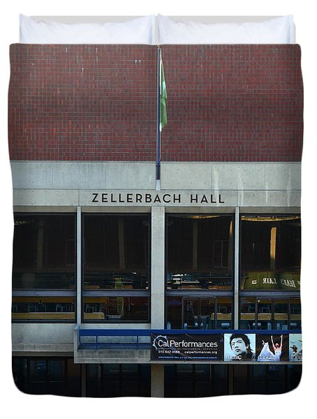 UC Berkeley . Zellerbach Hall . 7D10013 Duvet Cover by Wingsdomain Art and Photography