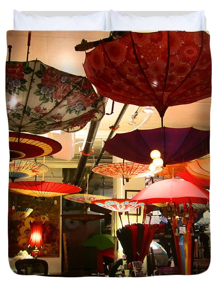 Umbrella Art Duvet Cover by Kym Backland