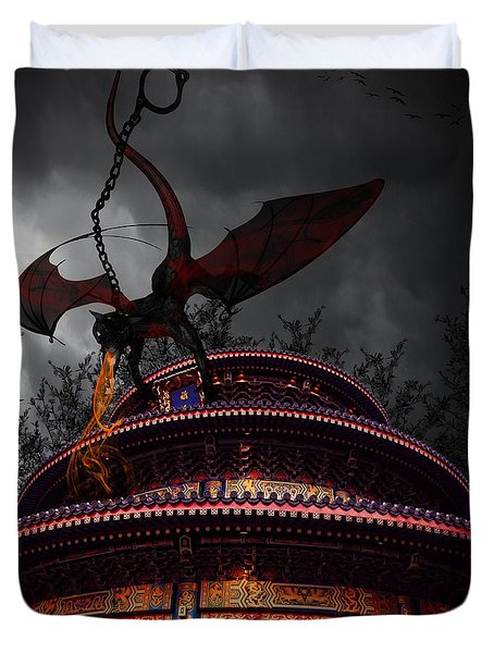 Unchained Protector Duvet Cover by Lourry Legarde