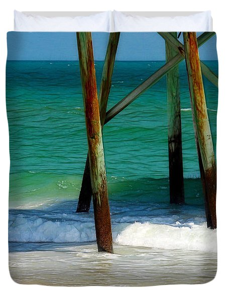 Under The Boardwalk Duvet Cover by Judi Bagwell