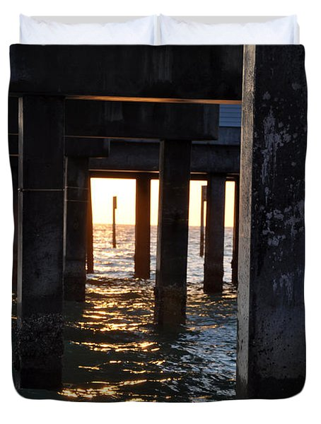 Under the Pier Duvet Cover by Bill Cannon