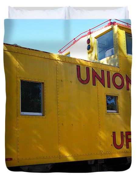 Union Pacific Caboose - 5d19205 Duvet Cover by Wingsdomain Art and Photography