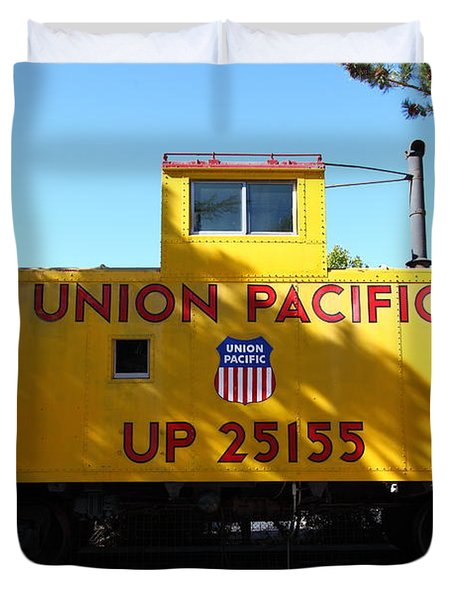 Union Pacific Caboose - 5D19206 Duvet Cover by Wingsdomain Art and Photography