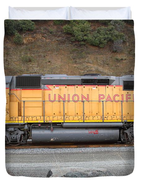 Union Pacific Locomotive . 7D10569 Duvet Cover by Wingsdomain Art and Photography