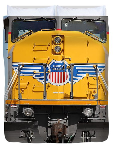 Union Pacific Locomotive Train - 5d18636 Duvet Cover by Wingsdomain Art and Photography