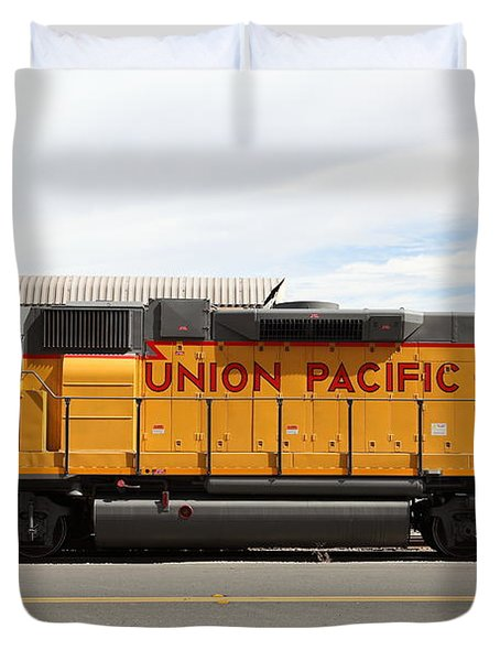 Union Pacific Locomotive Train - 5D18648 Duvet Cover by Wingsdomain Art and Photography