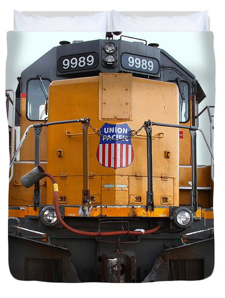 Union Pacific Locomotive Trains . 7D10589 Duvet Cover by Wingsdomain Art and Photography