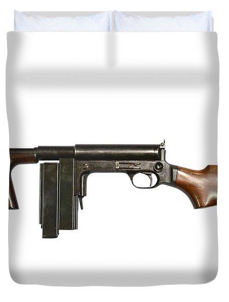 United Defense M42 Submachine Gun Duvet Cover by Andrew Chittock