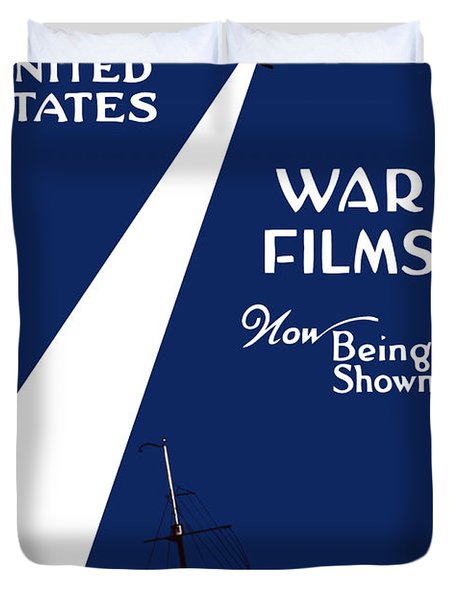 United States War Films Now Being Shown Duvet Cover by War Is Hell Store