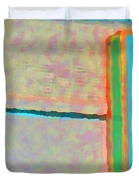Duvet Cover featuring the digital art Up And Over by Richard Laeton
