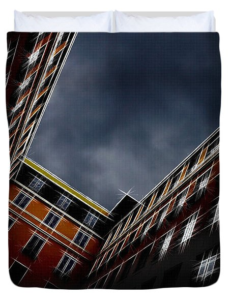 Urban Drawing Duvet Cover by Hannes Cmarits
