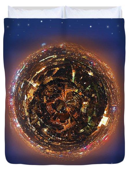 Urban Planet Duvet Cover by Elena Elisseeva