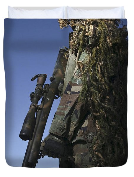 U.s. Air Force Sharpshooter Dressed Duvet Cover by Stocktrek Images