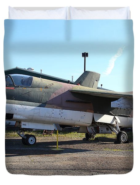 US Fighter Jet Plane . 7D11239 Duvet Cover by Wingsdomain Art and Photography