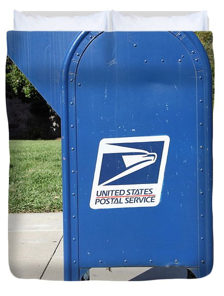 US Mail Box . 5D18813 Duvet Cover by Wingsdomain Art and Photography