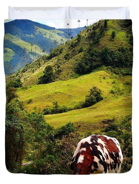 Vaca Duvet Cover by Skip Hunt