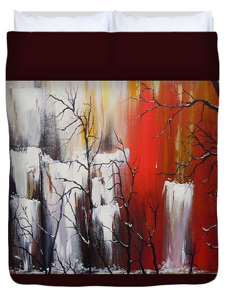 Valley Of Shadows Duvet Cover by Dan Whittemore