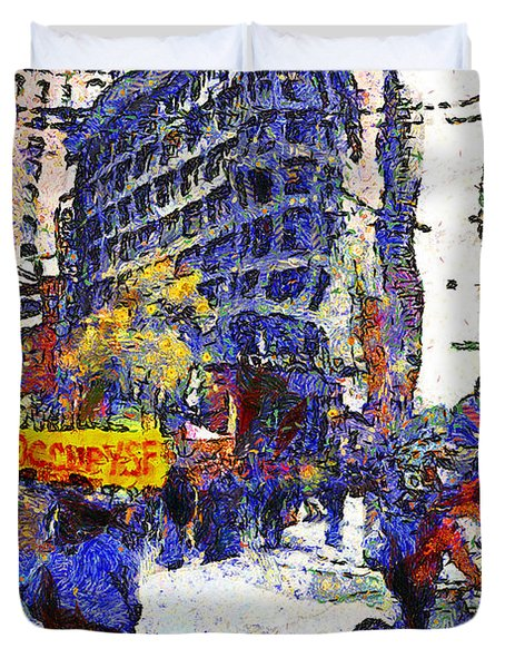 Van Gogh Occupies San Francisco . 7d9733 Duvet Cover by Wingsdomain Art and Photography