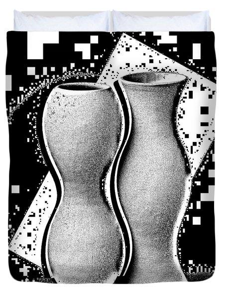 Vases Duvet Cover by Mauro Celotti