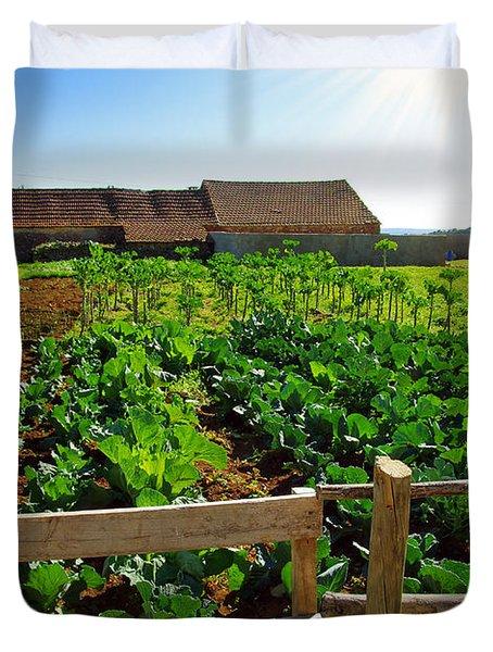 Vegetable Farm Duvet Cover by Carlos Caetano