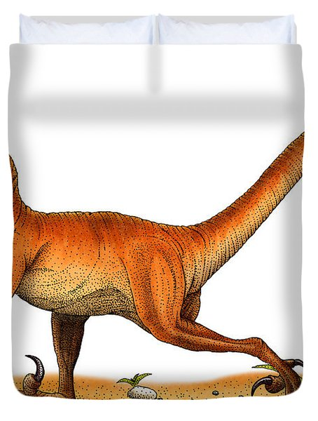 Velociraptor Duvet Cover by Roger Hall and Photo Researchers