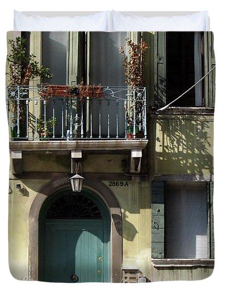 Venetian Doorway Duvet Cover by Carla Parris