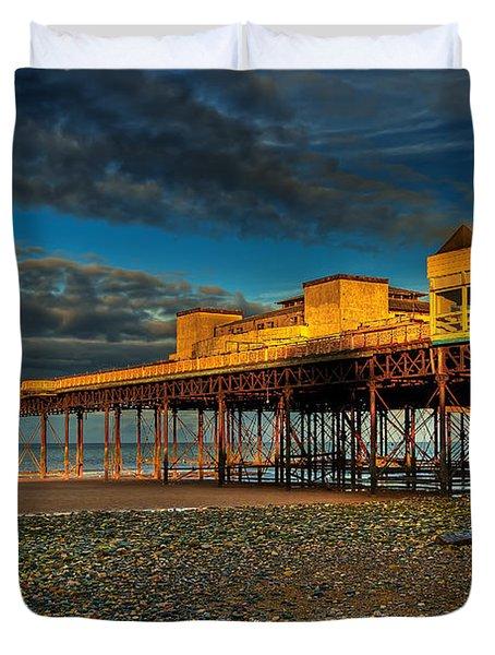 Victorian Pier Duvet Cover by Adrian Evans