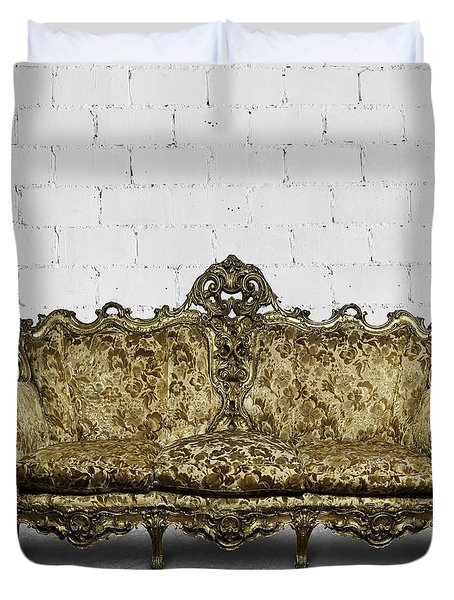 Victorian Sofa In White Room Duvet Cover by Setsiri Silapasuwanchai