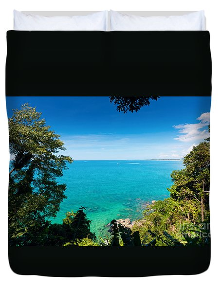 view from khao-lak Duvet Cover by ATIKETTA SANGASAENG