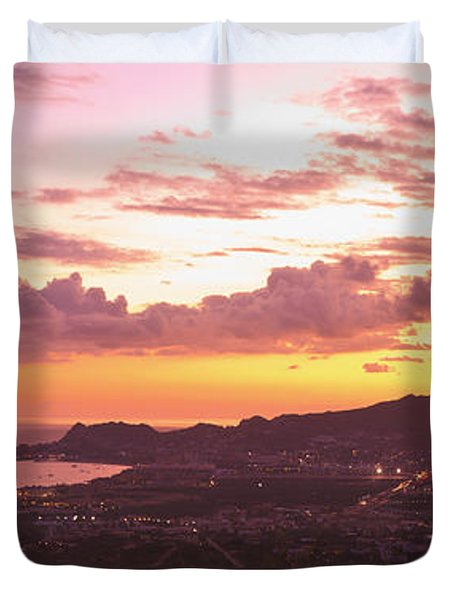 View Of Cabo San Lucas And Tip Of Baja Duvet Cover by Stuart Westmorland