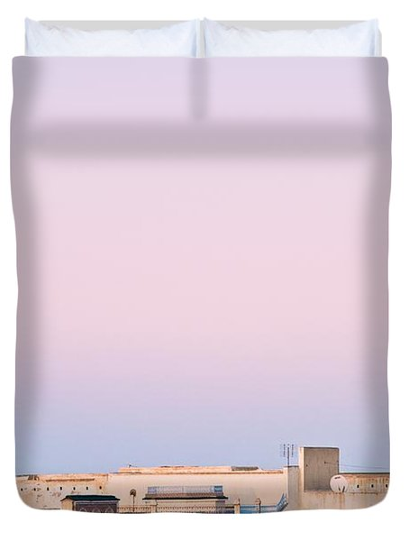 View Over Rooftops Kairouan, Tunisia Duvet Cover by David DuChemin
