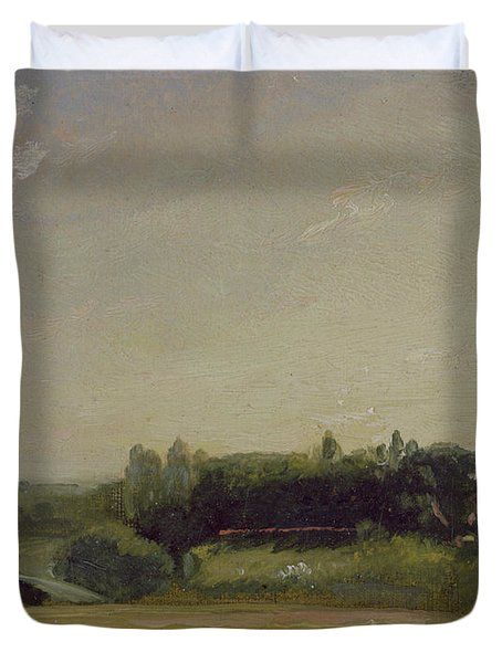 View Towards The Rectory - East Bergholt Duvet Cover by John Constable