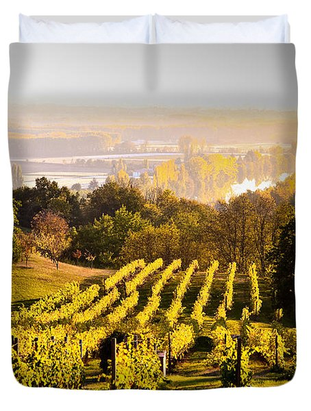 Vineyard Duvet Cover by Voisin and Phanie and Photo Researchers