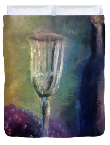 Vino Duvet Cover by Michelle Calkins