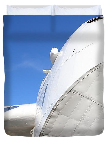 Vintage BOAC British Overseas Airways Corporation Speedbird Flying Boat . 7D11259 Duvet Cover by Wingsdomain Art and Photography