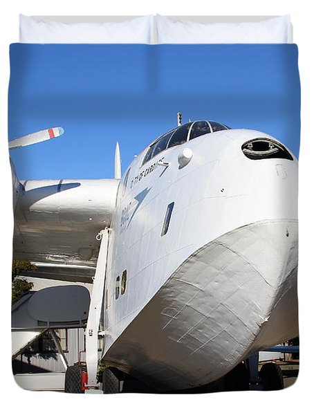 Vintage BOAC British Overseas Airways Corporation Speedbird Flying Boat . 7D11275 Duvet Cover by Wingsdomain Art and Photography
