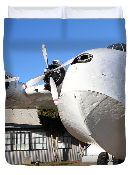 Vintage Boac British Overseas Airways Corporation Speedbird Flying Boat . 7d11276 Duvet Cover by Wingsdomain Art and Photography