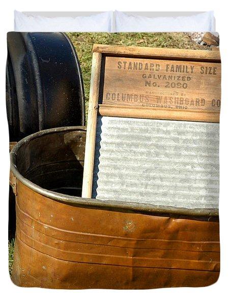 Vintage Copper Wash Tub Duvet Cover by LeeAnn McLaneGoetz McLaneGoetzStudioLLCcom