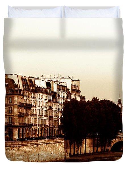 Vintage Paris 5 Duvet Cover by Andrew Fare