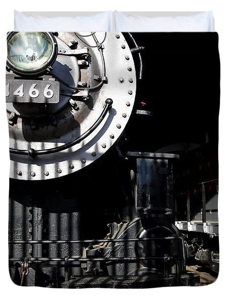 Vintage Railroad Locomotive Trains In The Train House . 7d11633 Duvet Cover by Wingsdomain Art and Photography
