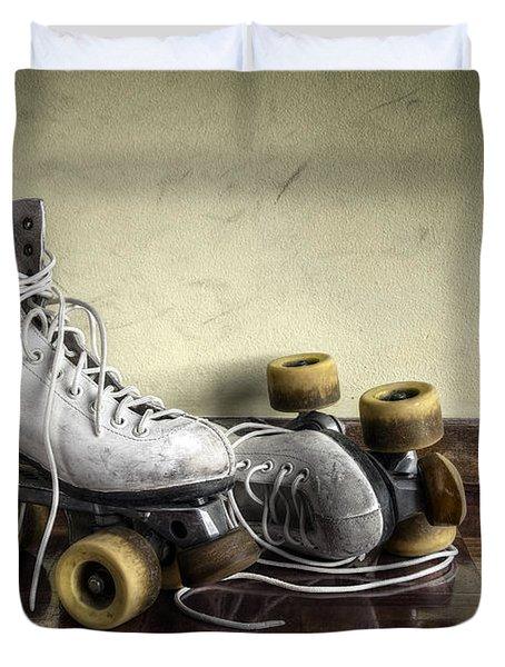 Vintage roller skates  Duvet Cover by Carlos Caetano