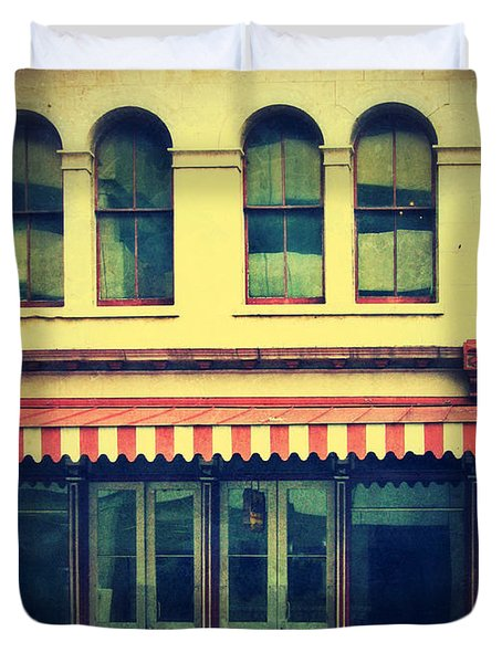 Vintage Store Fronts Duvet Cover by Jill Battaglia