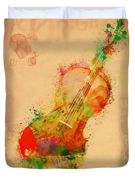 Violin Dreams Duvet Cover by Nikki Marie Smith