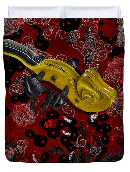 Violinelle - V02-12a Duvet Cover by Variance Collections