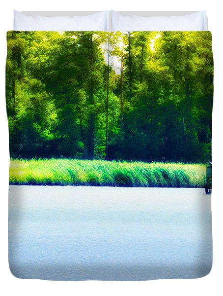 Virginia Tides Duvet Cover by Bill Cannon