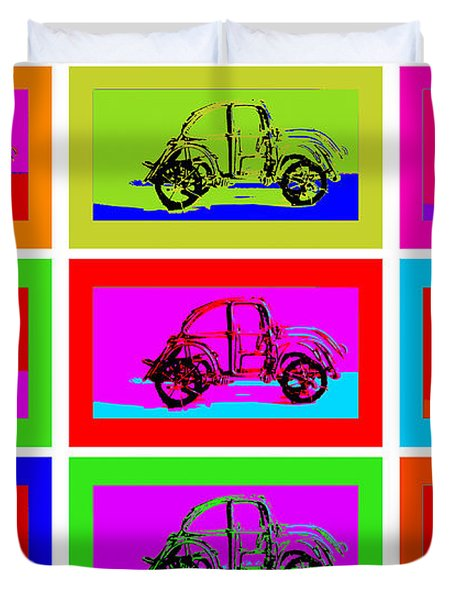 Vw Beatle 1b Duvet Cover by Mauro Celotti