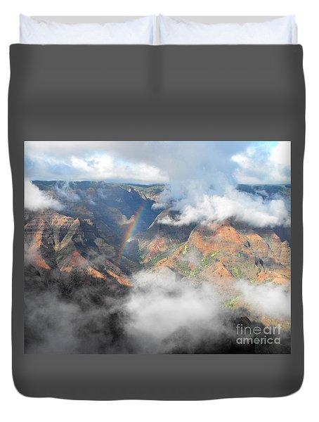Waimea Canyon Rainbow Duvet Cover by Rebecca Margraf