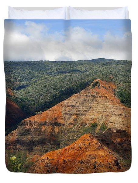 Waimea Canyons Duvet Cover by Debbie Karnes